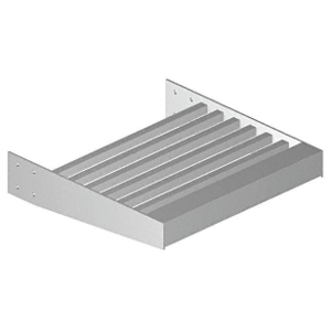 """Clear Anodized 4"""" x 4"""" Square Tube Blade - 146"""" Length"""