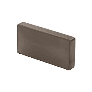 Dark Bronze Anodized Decorative Flat End Caps for 339 Series Aluminum Cap Railings