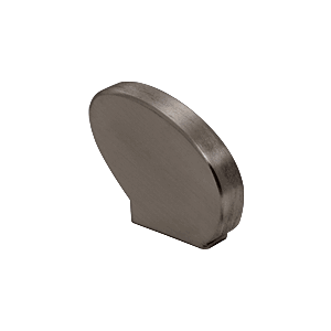 Left-Hand Dark Bronze Anodized Decorative Flat End Caps for 376 Series Aluminum Cap Railings