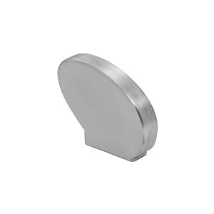 Left-Hand Satin Anodized Decorative Flat End Caps for 376 Series Aluminum Cap Railings