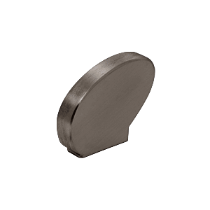 Right-Hand Dark Bronze Anodized Decorative Flat End Caps for 376 Series Aluminum Cap Railings