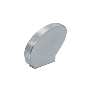 Right-Hand Mill Aluminum Decorative Flat End Caps for 376 Series Aluminum Cap Railings
