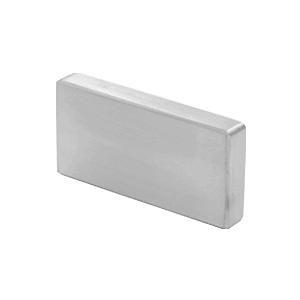 Satin Anodized Decorative Flat End Caps for 339 Series Aluminum Cap Railings