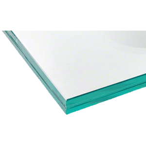 CRL LG25CC 25.52mm Clear Laminated Tempered Custom Size Glass Panel