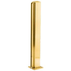 "Brite Gold Anodized 30"" End Design Series Partition Post"