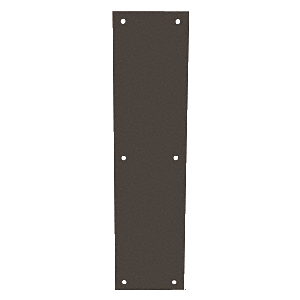 "CRL M60410B Oil Rubbed Bronze Push Plates 4"" x 16"""