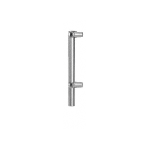 "Polished Stainless 12"" x 1"" HB55 Slimline Series Round Partition Corner Post"