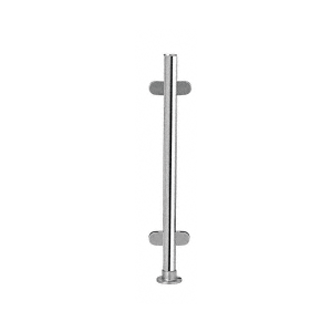 """Polished Stainless 18"""" x 1"""" PP49 Slimline Series Round Partition Center Post"""