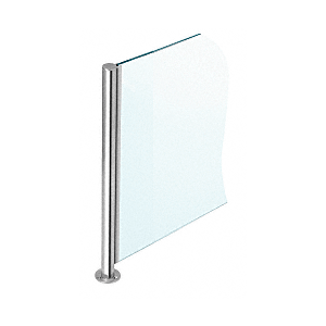 """Polished Stainless 18"""" x 1"""" SBPP08 Slimline Series Round 135 Degree Partition Post"""