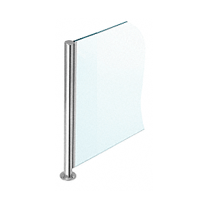 "Polished Stainless 18"" x 1"" SBPP08 Slimline Series Round 3-Way Partition Post"