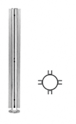 "CRL SBPP08XPS Polished Stainless 18"" x 1"" SBPP08 Slimline Series Round 4-Way Partition Post"