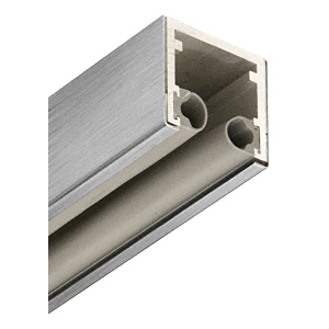 """Brushed Stainless 2"""" Double Head Channel for 3/4"""" Glass - 120"""""""