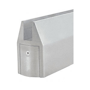 Satin Anodized CR150 Series Tapered Door Rail Custom Length Without Lock