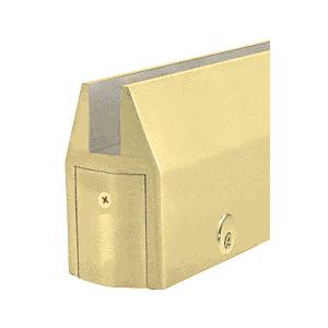 Satin Brass CR150 Series Tapered Door Rail Custom Length With Lock