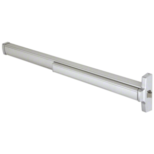 "48"" Model 2095 Grade 1 Rim Latch Panic Exit Device Right Hand Reverse Bevel 'S' Strike Fits 32"" to 48"" Wide Door Satin Aluminum Finish"