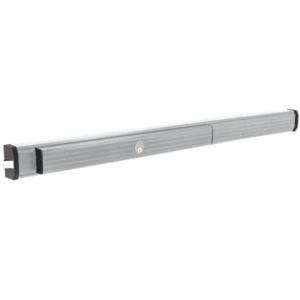 "Jackson 311295CC4628 1295 Push Pad Rim Panic Exit Device - Cylinder Dogging, C-Type Strike, 48"", Satin Aluminum"