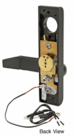 Jackson 9500EL02313 Electric Outside Lever Trim with Flat Style Lever Dark Bronze Finish 24 Volt DC