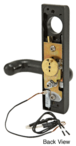 Jackson 9500EL01313 Electric Outside Lever Trim with Round Style Lever Dark Bronze Finish 24 Volt DC for Use with Jackson Rim Latch Panics Model 1295 and 2095