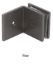 CRL SGC0390RB Oil Rubbed Bronze Fixed Panel Square Clamp With Large Leg