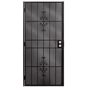 """Belvedere Black 32"""" x 80"""" Security Door"""