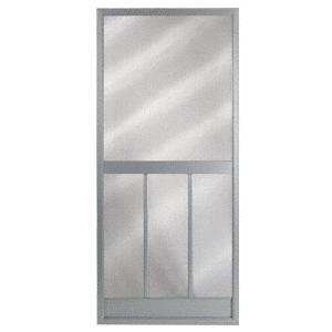 """CRL 20110042 Columbia Bravo Gray 36"""" x 80"""" Steel Hinged Screen Door"""