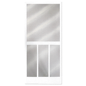 """CRL 2011003204 Bravo White 36"""" x 80"""" Steel Hinged Screen Door"""