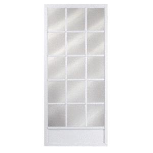 "Columbia Colonial White 32"" x 80"" Steel Hinged Screen Door - Bulk"