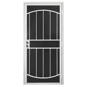 """White Gibraltar 32"""" x 80"""" Security Door"""