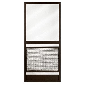 """Pioneer KBS Bronze 36"""" x 80"""" Steel Hinged Screen Door"""
