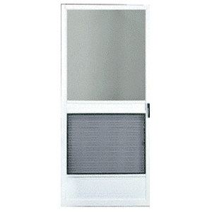 "Steelbreeze White 32"" x 80"" Steel Hinged Screen Door"