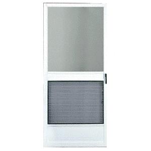"""Steelbreeze White 36"""" x 80"""" Steel Hinged Screen Door"""