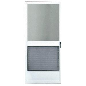 """CRL 20131092 Steelbreeze White 36"""" x 80"""" Steel Hinged Screen Door - Bulk"""