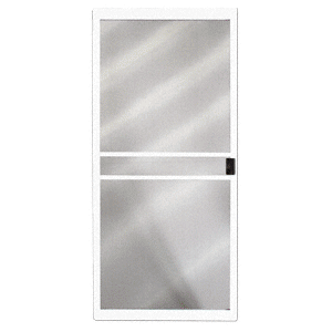 "CRL 1021101504 Columbia White 48"" x 80"" CM Supreme Sliding Screen Door"