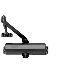 CRL PR80BLK Black Adjustable Spring Power Size 2 to 5 Surface Mount Door Closer