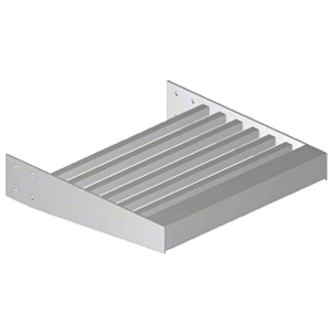 """Clear Anodized 2-3/8"""" Square Tube Sunshade Blades - 146"""" Length"""