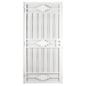 """CRL 25166202 Cherokee White 36"""" x 80"""" Security Door"""