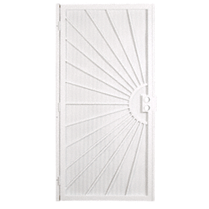 "Columbia 25163201 Sunset White 32"" x 80"" Security Door"
