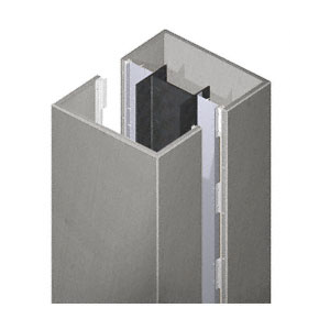 CRL PCS20CSA Custom Satin Anodized Premier Series Square Column Covers Two Panels Opposing