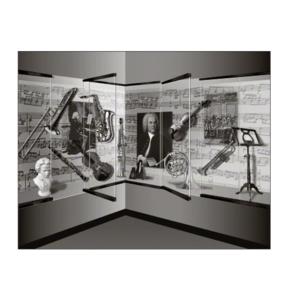 """Black 1301 Series Display Case Door - 3/8"""" Tempered Glass"""