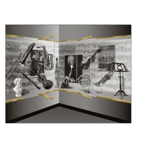 "CRL Blumcraft 13SDT38SB Satin Brass 1301 Series Display Case Door - 3/8"" Tempered Glass"