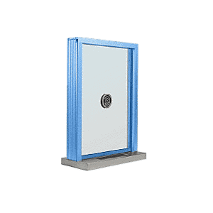 "CRL N1EW12P Painted (Specify) Aluminum Narrow Inset Frame Exterior Glazed Exchange Window with 12"" Shelf and Deal Tray"