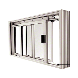 CRL DW2000A Satin Anodized DW Series Manual Deluxe Sliding Service Window OX or XO with Screen