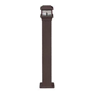 "CRL PCL1BRZ Matte Bronze Decorative Cap Light for 4"" x 4"" Vertical Aluminum Post"