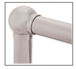 """CRL HR20BHBS Brushed Stainless 3-5/16"""" Ball Type Elbow for 2"""" Tubing"""