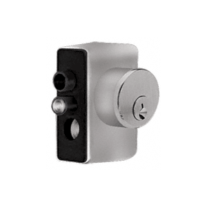 CRL KAD2LBS Brushed Stainless Left Hand Keyed Access Device for Glass Door Panic and Deadbolt Handle