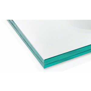 CRL LG21CC 21.52mm Clear Laminated Tempered Custom Size Glass Panel