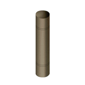 "CRL BLRRRV2BSB Brushed Bronze Bollard 9"" Round with Domed Top and Double Line Accents"