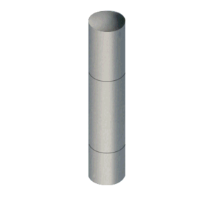"CRL BLRRRV1SBS Brushed Stainless Steel Bollard 9"" Round with Domed Top and Single Line Accents"