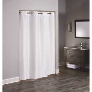 Hookless HBH40TPU4874 48 in. x 74 in. 3 in 1 TPU Coated White Shower Curtain Stall Size - pack of 12