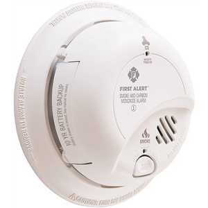 Hardwired Smoke and Carbon Monoxide Combination Detector with 10-Year Lithium Battery Backup